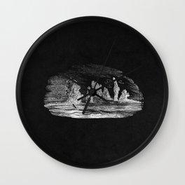 Ness Lake in Black Wall Clock