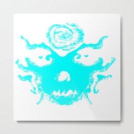 Rorschach Blue Metal Print