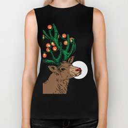 Rudolph With Your Nose So Bright Biker Tank