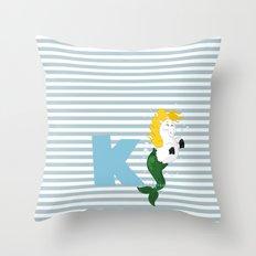 k for kelpie Throw Pillow