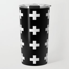 Swiss Cross Black Travel Mug