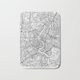 Bangkok Map White Bath Mat