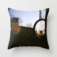 dark side Throw Pillows featuring Dark Side by FranArt