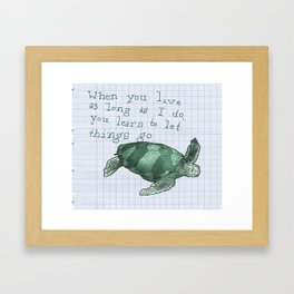 Bit of Advice Framed Art Print