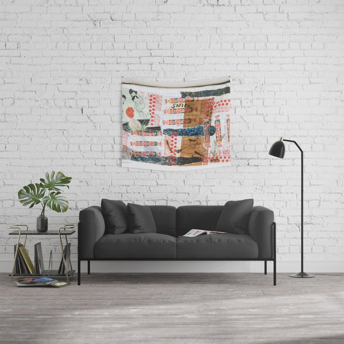 Pieces of Places Past Wall Tapestry