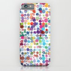 Colorful Paint Splats Slim Case iPhone 6s