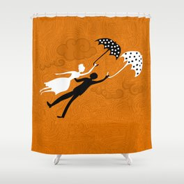 I love you let's fly Shower Curtain