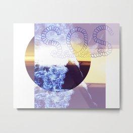 Ocean SOS Metal Print