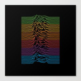 Joy Division - Unknown Apple Pleasures Canvas Print