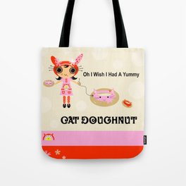Yummy Cat Doughtnut Tote Bag