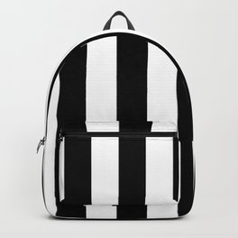 Stripes Black And White Backpack