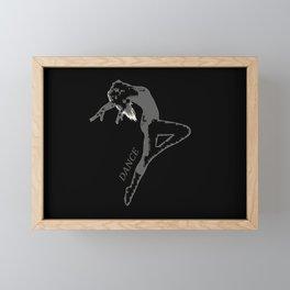 Dance Moves - Female Dancer Framed Mini Art Print