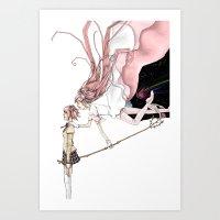 madoka magica Art Prints featuring Puella Magi Madoka Magica by AliArt