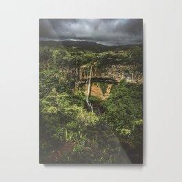 Chamarel Waterfall Metal Print