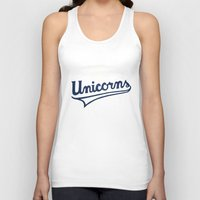 unicorns Tank Tops featuring Unicorns by WEAREYAWN