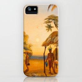 Watu Ticabu Illustrations Of Guyana South America Natural Scenes Hand Drawn iPhone Case