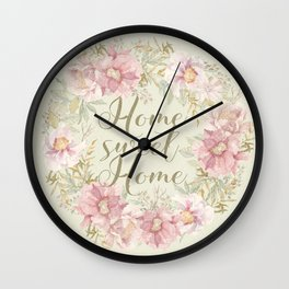 Home Sweet Home 1 Wall Clock