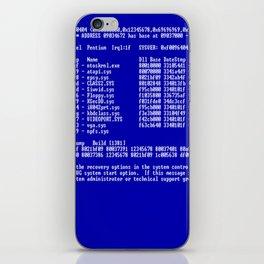 Bluescreen iPhone Skin