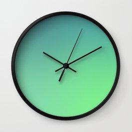 Leaf Green Wall Clock