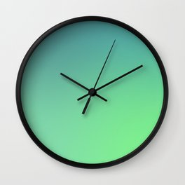 Leaf Green Wall Clock