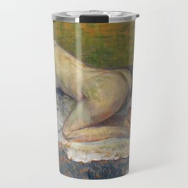 """Henri de Toulouse-Lautrec """"Crouching Woman with Red Hair"""" Travel Mug"""