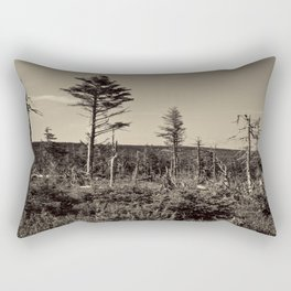 old trees on the hillside Rectangular Pillow