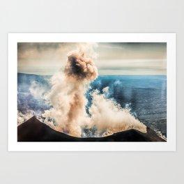 The summit of Karymsky Volcano Art Print