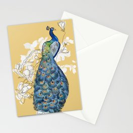Animalia - The Peacock - Animal kingdom print Stationery Cards