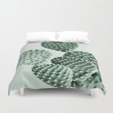 Green Bunny Ears Cactus  Duvet Cover