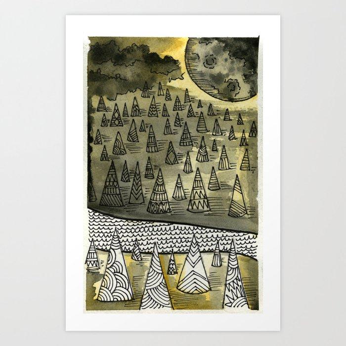 River Runnin Art Print