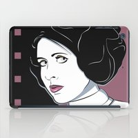 princess leia iPad Cases featuring Princess Leia Pop Art by Patrick Scullin
