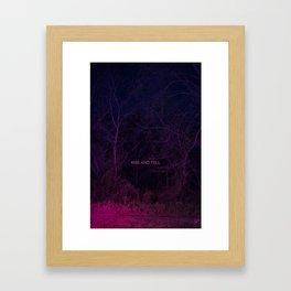 Kiss and Tell Framed Art Print