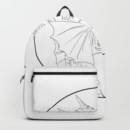 Dragon Fire Circle Drawing Backpack