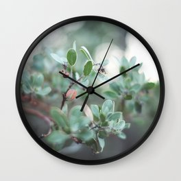 Red Berries on a Tree in Yosemite National Park Wall Clock
