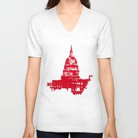 washington dc V-neck T-shirts featuring Washington DC  by ialbert