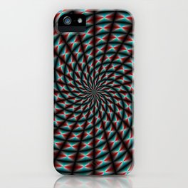 Spiral Rays in Red and Blue iPhone Case