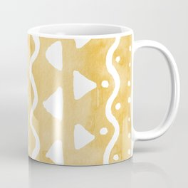 Loose bohemian pattern - yellow Coffee Mug