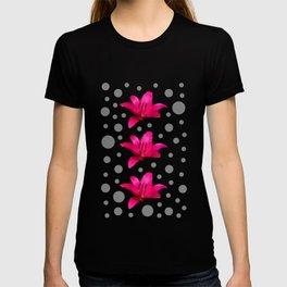Pink Lily Pattern T-shirt