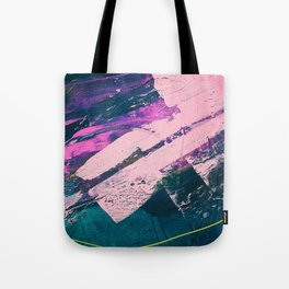 Wonder. - A vibrant minimal abstract piece in jewel tones by Alyssa Hamilton Art Tote Bag
