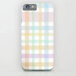 Rainbow Plaid Tartan Textured Pattern iPhone Case