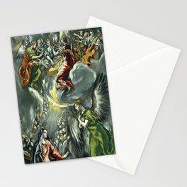 """El Greco (Domenikos Theotokopoulos) """"The Annunciation (1597 - 1600)"""" Stationery Cards"""