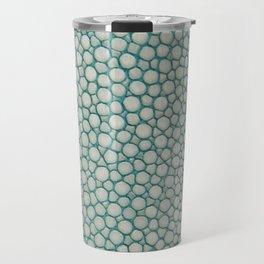 Green Shagreen Stingray Simulated Skin Travel Mug