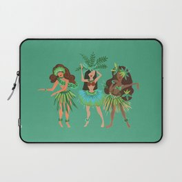 Luau Girls on Mint Laptop Sleeve