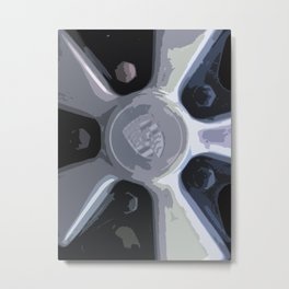 Porsche Fuchs Wheel Metal Print
