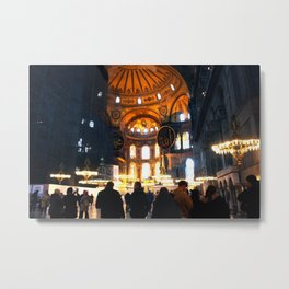 The Apse Of Hagia Sofia Metal Print
