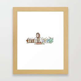 Ben Folds Lines - Kate Framed Art Print