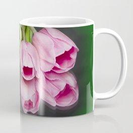 Tulips and Reflections on Green Coffee Mug