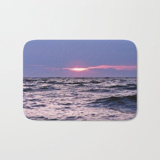 Water level Sunset Bath Mat
