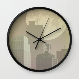 Abandoned city Wall Clock