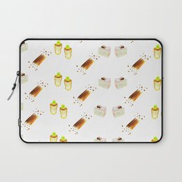 cherry blssom and neon green cherry cupcakes Laptop Sleeve
